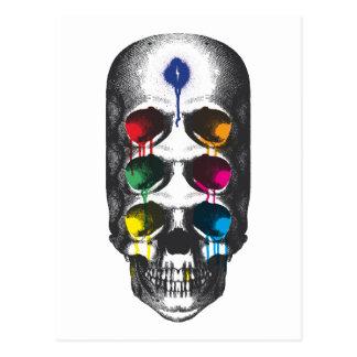 Goteos de los ojos del cráneo 6 tarjeta postal