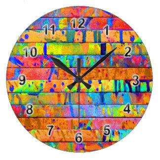 Goteos de Paind Reloj Redondo Grande