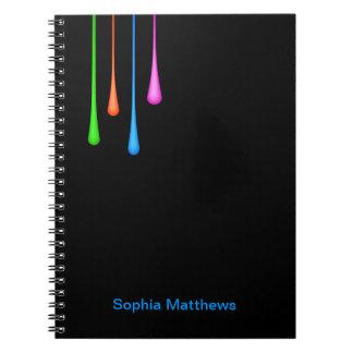 Goteos del color cuadernos