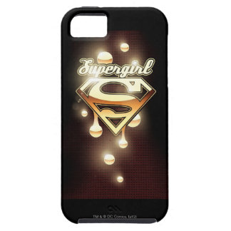 Goteos del oro de Supergirl iPhone 5 Case-Mate Carcasas