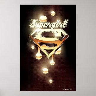 Goteos del oro de Supergirl Póster