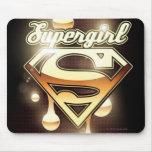 Goteos del oro de Supergirl Tapete De Ratones