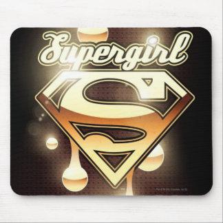 Goteos del oro de Supergirl Alfombrillas De Ratones