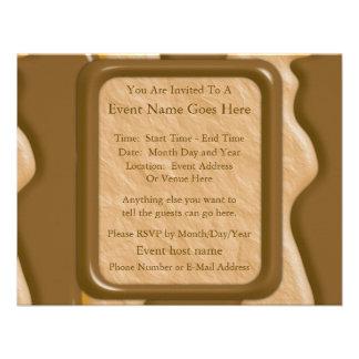 Goteos - mantequilla de cacahuete del chocolate invitación