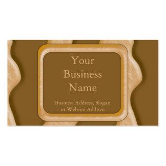 Goteos - mantequilla de cacahuete del chocolate plantilla de tarjeta personal