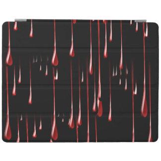 Goteos sangrientos en fondo negro cubierta de iPad