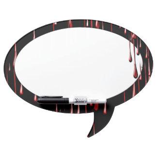 Goteos sangrientos en fondo negro tableros blancos