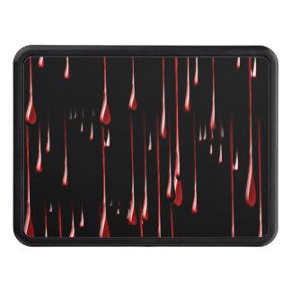 Goteos sangrientos en fondo negro tapas de tráiler