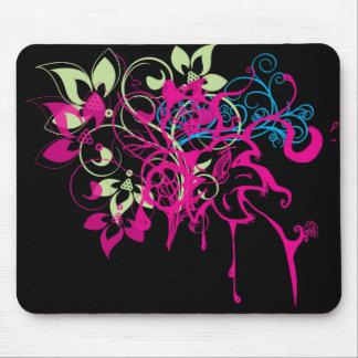 Goteos y flores Mousepad de las rosas fuertes Tapetes De Raton