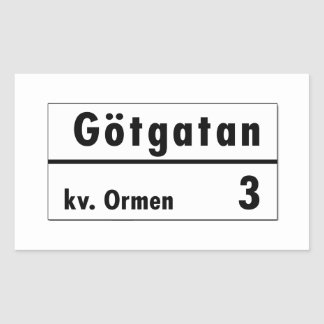 Götgatan, Stockholm, Swedish Street Sign Rectangular Sticker