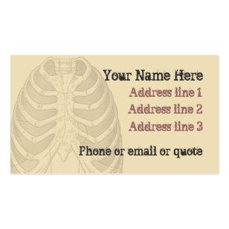 Goth Anatomy Ribcage Business Card Tan