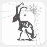 GOTH AND SPIDER FRIEND SQUARE STICKER