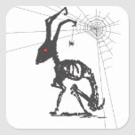 GOTH AND SPIDER FRIEND SQUARE STICKERS