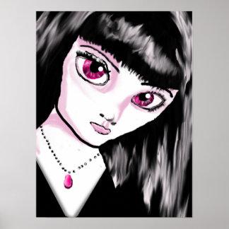 Goth Anime Girl Poster