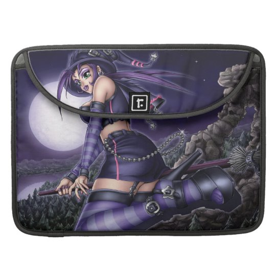 Goth Anime Witch Sleeve For MacBook Pro