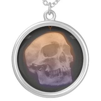 Goth Art Human Skull Necklace