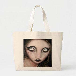 Goth Big Head Canvas Bags