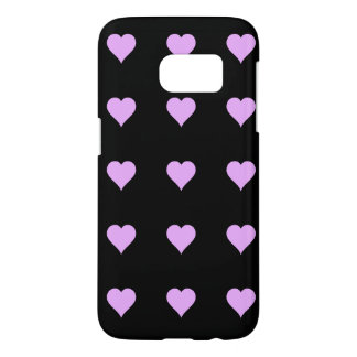 Goth Black and Pink Heart Design Samsung Galaxy S7 Case