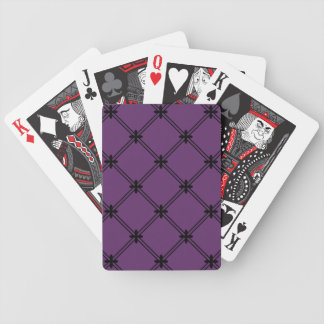 Goth Black and Purple Diagonal Pattern Bicycle Playing Cards