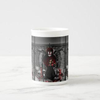 Goth Black Spider Bone China Mug