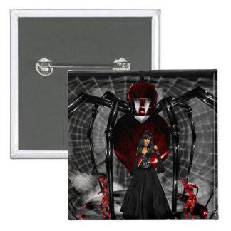 Goth Black Spider Button