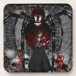 Goth Black Spider Coasters