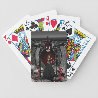 Goth Black Spider Playing Cards