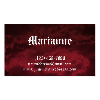 Goth Blood Storm Business Card