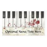 Goth Bloodstained Piano Business Cards