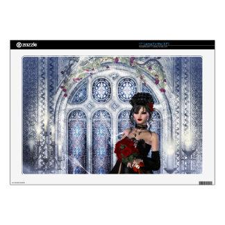 Goth Bride in Church Laptop Skin