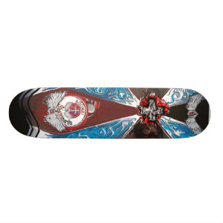 Goth burst with wings skateboard deck