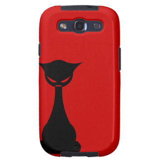 Goth Cat Silhouette Samsung Galaxy S Case