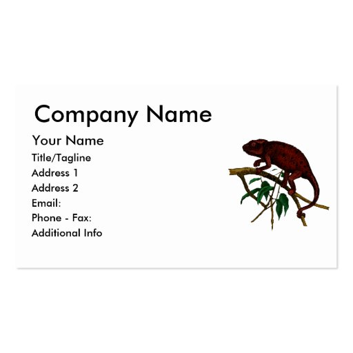 Goth Chameleon Double-Sided Standard Business Cards (Pack Of 100)
