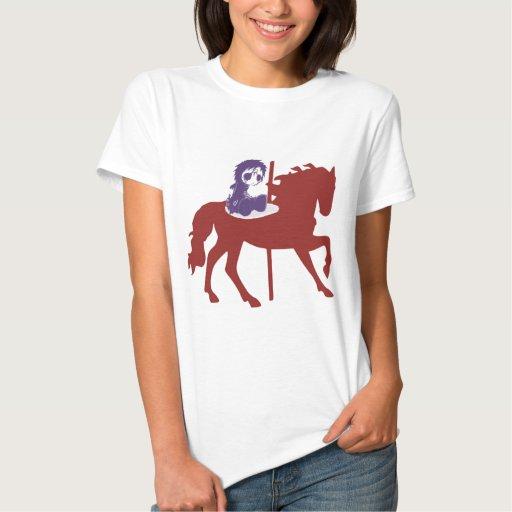 Goth Child on Carousel Horse Shirt