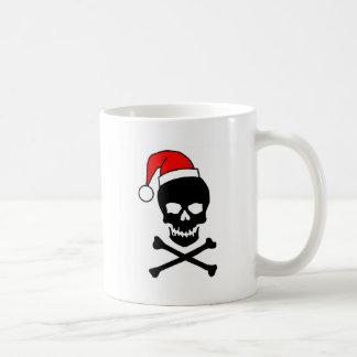 Goth Christmas Black Skull Coffee Mugs