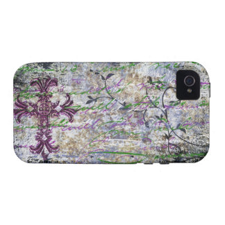 Goth Cross Handwriting iPhone Tough iPhone 4 Cover
