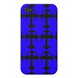 Goth Crucifix - Funky iPhone Cases (blue)