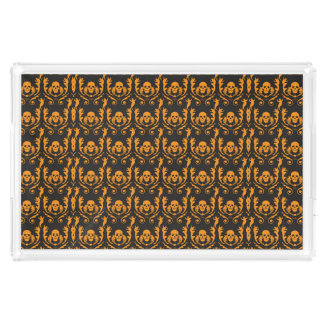 Goth Damask Rectangle Serving Trays