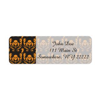 Goth Damask Return Address Label