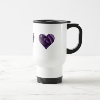 Goth Dark Purple Rose Heart 15 Oz Stainless Steel Travel Mug
