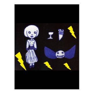 Goth Doll Postcard