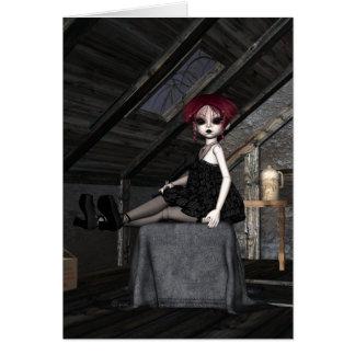 Goth Doll Zoey - Greeting Card