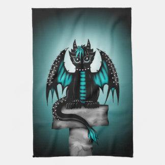 Goth Dragon Kitchen Towel