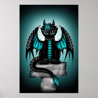 Goth Dragon Poster