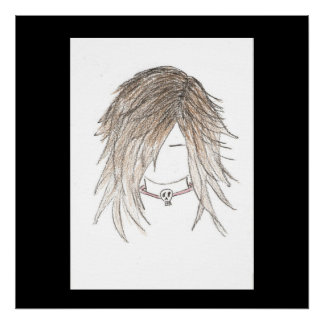 Goth Emo Girl Canvas Posters