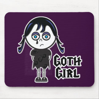 Goth Emo Girl Mouse Pad