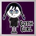 Goth Emo Girl print