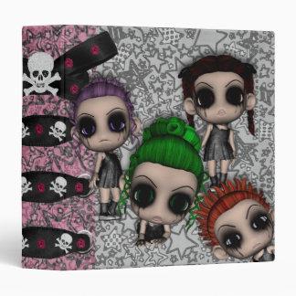 goth emo punk cuties notebook 3 ring binders
