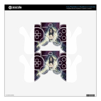 Goth Emo Style Striped Girl PS3 Controller Skin