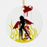 Goth Fairy & Dragon 1 Ornament